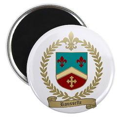 """ROUSSELLE Family Crest 2.25"""" Magnet (10 pack)"""