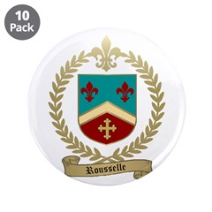 """ROUSSELLE Family Crest 3.5"""" Button (10 pack)"""