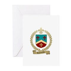 ROUSSELLE Family Crest Greeting Cards (Pk of 10)