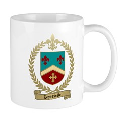 ROUSSELLE Family Crest Mug