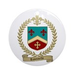 ROUSSELLE Family Crest Ornament (Round)
