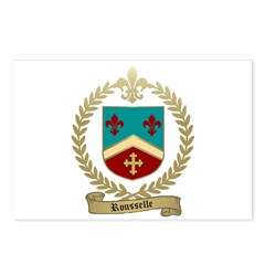 ROUSSELLE Family Crest Postcards (Package of 8)