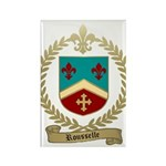 ROUSSELLE Family Crest Rectangle Magnet (100 pack)