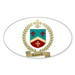 ROUSSELLE Family Crest Oval Sticker (10 pk)
