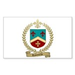 ROUSSELLE Family Crest Rectangle Sticker 10 pk)