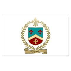 ROUSSELLE Family Crest Rectangle Sticker 50 pk)