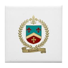 ROUSSELLE Family Crest Tile Coaster