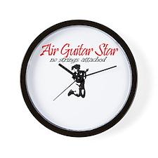 Air Guitar Star - No Strings  Wall Clock