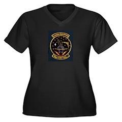 Mission Operations Women's Plus Size V-Neck Dark T