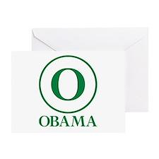 Green O Obama Greeting Card