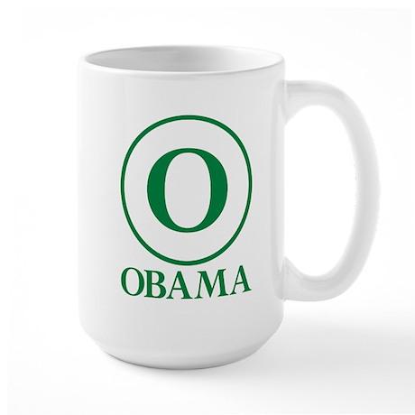 Green O Obama Large Mug