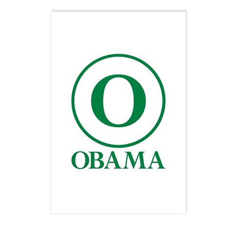 Green O Obama Postcards (Package of 8)