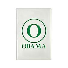 Green O Obama Rectangle Magnet