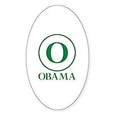 Green O Obama Oval Decal