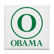 Green O Obama Tile Coaster