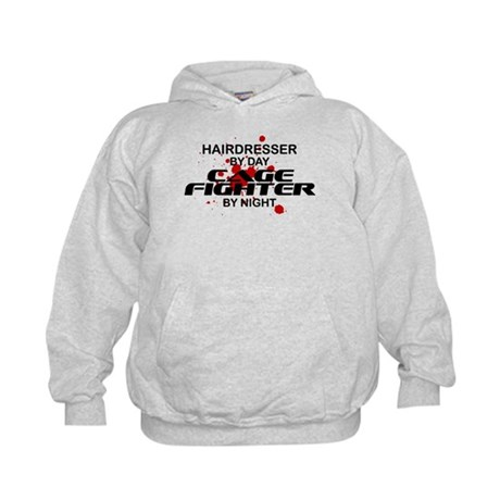 Hairdresser Cage Fighter by Night Kids Hoodie