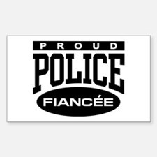 Proud Police Fiancee Rectangle Decal