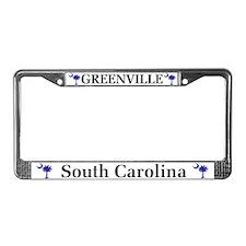 Greenville South Carolina License Plate Frame