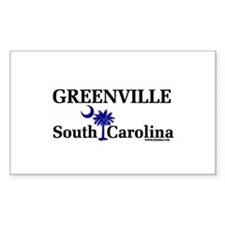 Greenville South Carolina Rectangle Decal