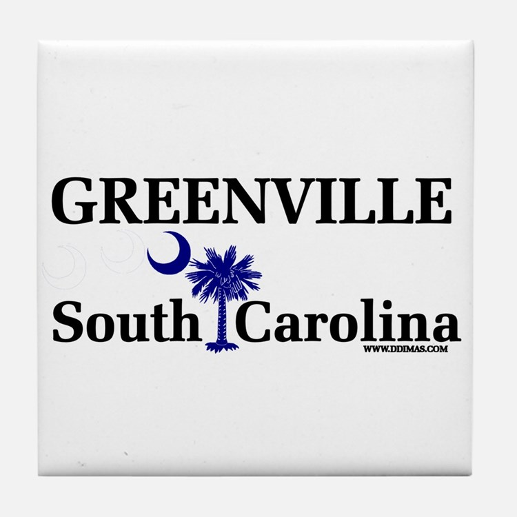 Greenville South Carolina Tile Coaster