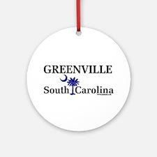 Greenville South Carolina Ornament (Round)