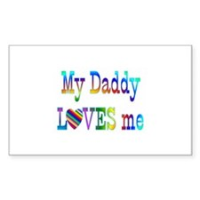 Daddy Love Rectangle Decal