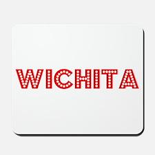 Retro Wichita (Red) Mousepad