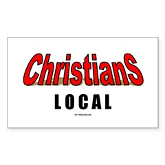 Christians Local(TM) Rectangle Sticker 50 pk)