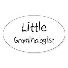 Little Graminologist Oval Sticker