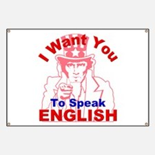 I Want You to Speak English R Banner