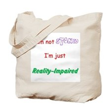 I am not stoned - double-sided tote Bag