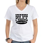 Proud Police Daughter Women's V-Neck T-Shirt
