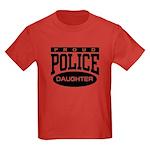 Proud Police Daughter Kids Dark T-Shirt