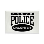 Proud Police Daughter Rectangle Magnet