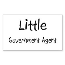 Little Government Agent Rectangle Decal