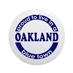 Oakland: Blue Town Keepsake (Round)