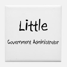 Little Government Administrator Tile Coaster