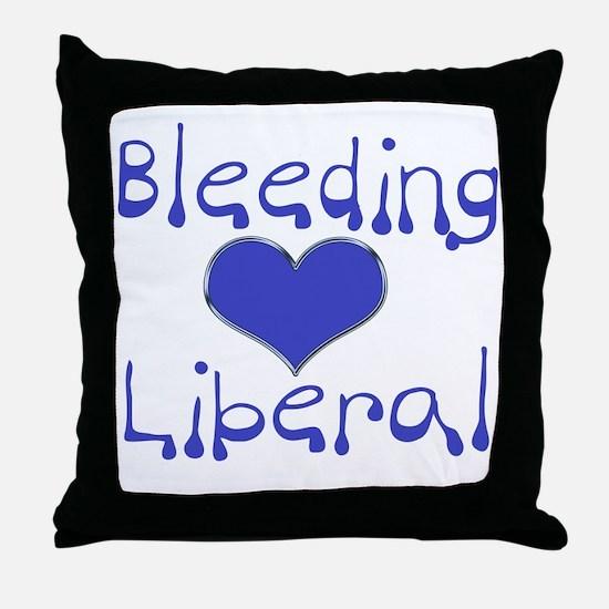 Bleeding Heart Liberal Throw Pillow