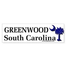 Greenwood South Carolina Bumper Bumper Sticker