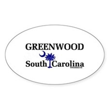 Greenwood South Carolina Oval Decal