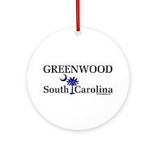 Greenwood South Carolina Ornament (Round)
