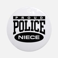 Proud Police Niece Ornament (Round)