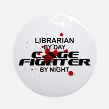 Librarian Cage Fighter by Night Ornament (Round)