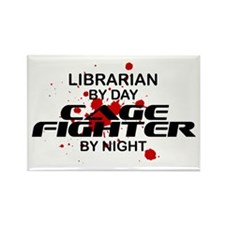 Librarian Cage Fighter by Night Rectangle Magnet