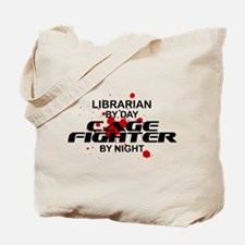Librarian Cage Fighter by Night Tote Bag
