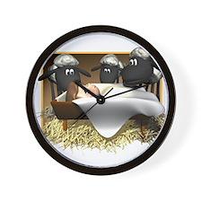 Baby Jesus & Sheep Wall Clock