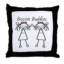 Bosom Buddies Throw Pillow
