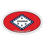 Arkansas State Flag Oval Sticker
