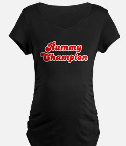 Retro Rummy Champ.. (Red) T-Shirt
