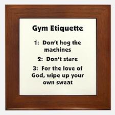 Gym Etiquette Smaller Product Framed Tile